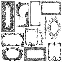 Baroque Damask Frames