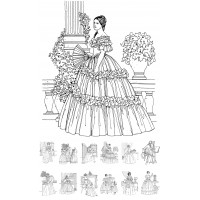 (24 cards normal book size) Victorian Ladies Vintage Fashion