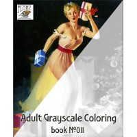 Sexy Pinup Girls Christmas Gift for Man (24 large pages) Vintage Designs for Grayscale Coloring