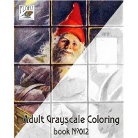 Christmas Gnomes Dwarves by Jenny Nystrom (24 large pages) Vintage Designs for Grayscale Coloring