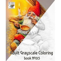 Christmas Dwarves Lars Carlsson Gnomes (24 large pages) Vintage Designs for Grayscale Coloring