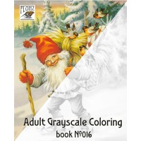 Christmas Gnomes Lars Carlsson Dwarf (24 large pages) Vintage Designs for Grayscale Coloring