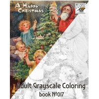 Santa and Kids Christmas Jenny Nystrom (24 large pages) Vintage Designs for Grayscale Coloring