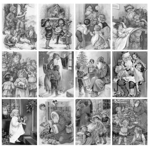 Santa And Kids Christmas Jenny Nystrom 24 Large Pages