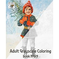 Dwarf Christmas Gift by Jenny Nystrom (24 large pages) Vintage Designs for Grayscale Coloring