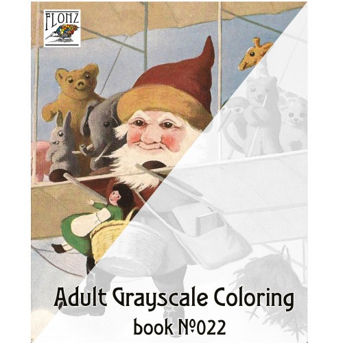 santa christmas tree gifts for kids 24 large pages vintage designs for grayscale coloring