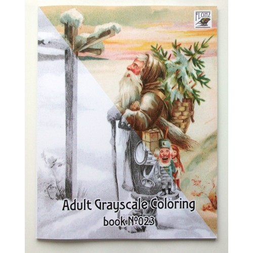 gifts santa christmas tree for kids 24 large pages vintage designs for grayscale coloring