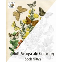 Flowers Butterfly and Moths (24 large pages) Vintage Designs for Grayscale Coloring
