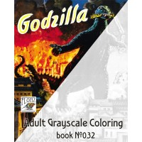 Godzilla Vintage Horror Monster Movie Posters (24 large pages) Vintage Designs for Grayscale Coloring for Man