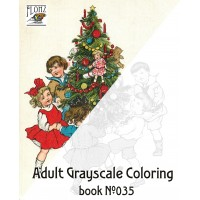 Christmas Gift for Kids Winter (24 large pages) Vintage Designs for Grayscale Coloring