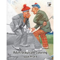 Funny Golf in Scotland Fred Buchanan (24 large pages) Vintage Designs for Grayscale Coloring