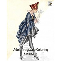 Fashion Girls by Xavier Sager (24 large pages) Vintage Designs for Grayscale Coloring