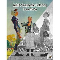 Sport and Football by Norman Rockwell (24 large pages) Vintage Designs for Grayscale Coloring