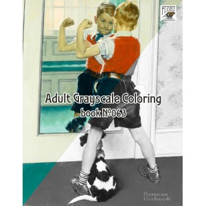 Boys Life by Norman Rockwell (24 large pages) Vintage Designs for Grayscale Coloring