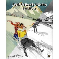 European Ski Vacation Vintage Travel Posters (24 large pages) Vintage Designs for Grayscale Coloring