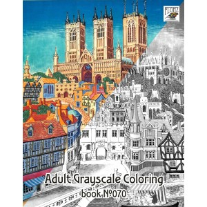 Britain Towns Vintage Travel Posters (24 large pages) Vintage Designs for Grayscale Coloring
