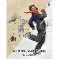 Norman Rockwell Everyday Life (24 large pages) Vintage Designs for Grayscale Coloring