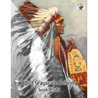 Native American Indian Chief Portraits (24 large pages) Vintage Designs for Grayscale Coloring