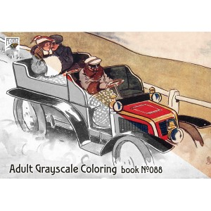 Automotive and Cars by Lance Thackeray (24 large pages) Vintage Designs for Grayscale Coloring