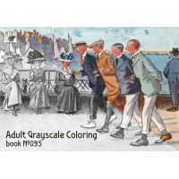 Funny Scenes by Lance Thackeray (24 large pages) Vintage Designs for Grayscale Coloring