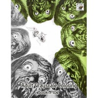 Unhead Horror Vintage Trash Movie Posters (24 large pages) Vintage Designs for Grayscale Coloring