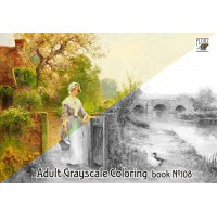 Provence Pastoral Summer Landscapes Vintage Painting (24 large pages) Vintage Designs for Grayscale Coloring