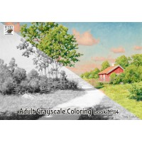 Rural Landscapes Summer Country Gardens Vintage Painting (24 large pages) Vintage Designs for Grayscale Coloring