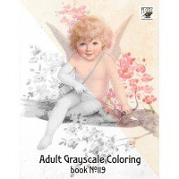 Cupids for St Valentine Day (24 large pages) Vintage Designs for Grayscale Coloring