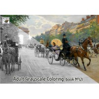 Victorian Times Town Scenes Vintage Painting (24 large pages) Vintage Designs for Grayscale Coloring