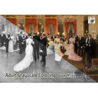 Night Life Belle Epoque Victorian (24 large pages) Vintage Designs for Grayscale Coloring