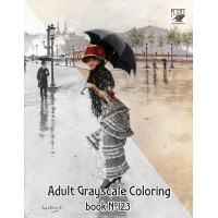 Belle Epoque Fashion Lady Victorian (24 large pages) Vintage Designs for Grayscale Coloring