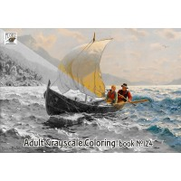 Fisherman Life Hans Dahl Rural Painting (24 large pages) Vintage Designs for Grayscale Coloring
