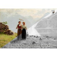 Coutry Life Hans Dahl Rural Painting (24 large pages) Vintage Designs for Grayscale Coloring