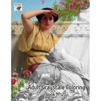 Roman Fashion Woman John William Godward(24 large pages) Vintage Designs for Grayscale Coloring