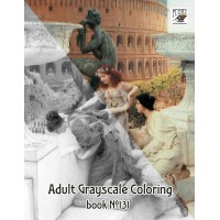 Roman Antique Fashion Girls Lawrence Alma Tadema (24 large pages) Vintage Designs for Grayscale Coloring