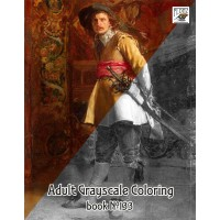 Musketeer Portraits Painting (24 large pages) Vintage Designs for Grayscale Coloring