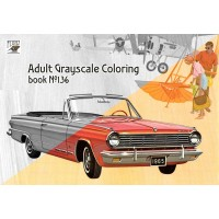 Dodge Classic Cars Ads American (24 pages) Grayscale Coloring
