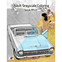 Dodge Luxury American Classic Cars Ads (24 pages) Grayscale Coloring