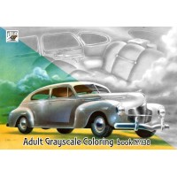 Imperial American Classic Cars Ads (24 pages) Grayscale Coloring