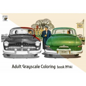 Auto Races Grand Prix Classic Cars Formula (24 pages) Grayscale Coloring