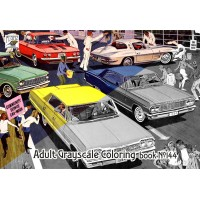 Pontiac Classic Cars America Ads (24 pages) Grayscale Coloring