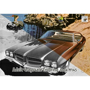 Classic Cars Pontiac Ads Commercial (24 pages) Grayscale Coloring
