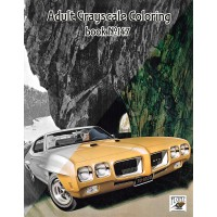 Leslie Saalburg Classic Cars Illustration (24 pages) Grayscale Coloring