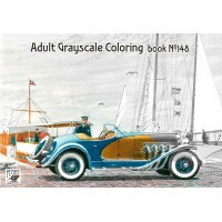 Peter Helck Classic Cars Illustration (24 pages) Grayscale Coloring