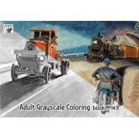 Peter Helck Races Grand Prix Classic Cars (24 pages) Grayscale Coloring