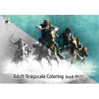 Wild West Indians War Frank McCarty (24 pages) Grayscale Coloring