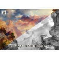 Native American Landscapes Thomas Moran (24 pages) Grayscale Coloring