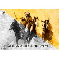 Indians Cowboys War Wild West Howard Terpning (24 pages) Grayscale Coloring