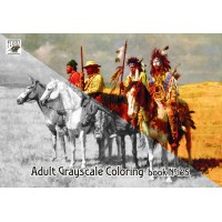 Indians Native American Life Wild West Howard Terpning (24 pages) Grayscale Coloring