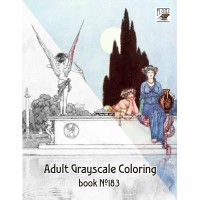Fairy Fantasy William Robinson (24 pages) Grayscale Coloring